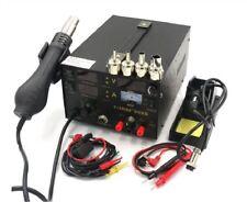 New 220V Saike 909D 3 In 1 Rework Station With Hot Air Gun Smd Soldering Tool