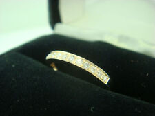 14K Yellow Gold Diamond Wedding Ring Band Guard Engagement Pave 0.29 Ct Size 8
