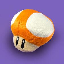 Super Mario Bros Orange Mushroom Plush Doll Figure Stuffed Toy Suction Cup