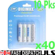 40 x AAA Rechargeable Batteries 900mAh NIMH 10 x 4 Pks