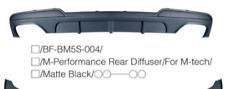 Matte Black BMW F10 (5 series) M-performance style rear bumper diffuser