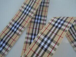 Ruban galon tartan écossais  25 mm couture scrapbooking embellissement.