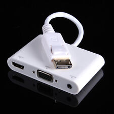 DisplayPort DP Male to VGA HDMI Female +Audio +Micro USB Converter Adapter Cable