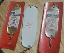 New listing 3) Vintage 1950s Les Davis Herring Dodgers -2 Nib Size 3/0 - 1 @ 2/0 Flasher Lot