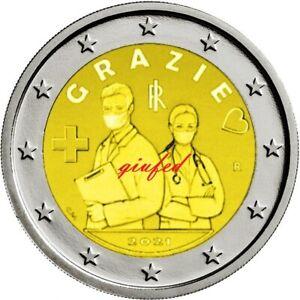 2 € EURO ITALIA 2021 PROFESSIONI SANITARIE FDC UNC
