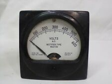 Untested Vintage Weston Daystrom Ac Volts Rectifier Type 0 600 Model 302