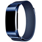métal inoxydable Milanais magnétique BANDE boucle bracelet pour Fitbit Charge 2