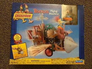 BRAND NEW 2000 Playmates Chicken Run ROCKY'S FLYING MACHINE w/ROCKY Figure