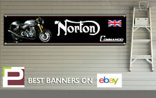 NORTON Commando 961 banner per Officina, Garage, Pit Lane, 1300mm x 325mm