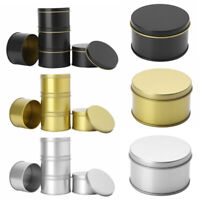5 Small Mini Round Tin Can Boxes Metal Box Jewelry Candle Container w/Lids 65mm