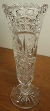 "Hofbauer Byrdes Crystal Collection 8 3/4"" Bud Vase EXCELLENT CONDITION"