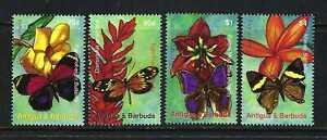 Antigua & Barbuda 2007 Sc#2945-8  Butterflies & Flowers  MNH Set $8.00