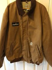 CARHARTT FR Duck Work Coat Insulated Flame-Resistant MENS XL TAN Barn Chore
