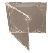 50 x Slimline CD / DVD JEWEL CASE 5.2 mm SATINATO Chiaro Bianco NUOVA COVER di ricambio