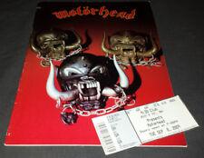 Motorhead: tour book/program (Iron Fist) + 2009 ticket stub