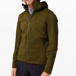 NEW wTag-LULULEMON Green Hooded Fleece Back Softshell Jacket XL