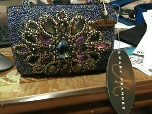 Mary Frances Shoe Lovers Gold Brocade Beaded Handbag with Old Fashioned Womens Shoe on the Front /& Feather Beaded Strap Mary Frances bag