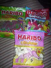 3 Share Bags of Haribo HAPPY CHERRIES, SUPERMIX AND MILKSHAKES