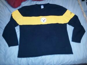 PITTSBURGH STEELERS LOGO LONG SLEEVED REEBOK SWEATER X-LARGE