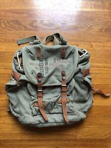 Kakadu Traders Australia Sage Green Canvass Leather Bag Backpack 5L2819