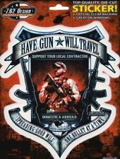 Pegatinas 7.62 Design Have Gun Will Travel 14,5x17 cm YuJean military sticker