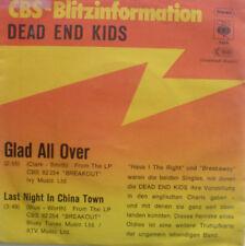 "7"" 1977 CV GERMAN CBS BLITZ PROMO RARE ! DEAD END KIDS ; Glad All Over /MINT-?"