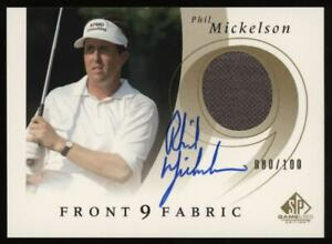 2002 Phil Mickelson SP Game Used Patch Auto Autograph Rookie Rc #080/100 *NICE*