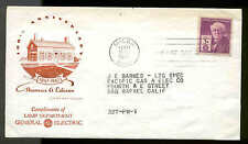 945 EDISON MILAN, OH HOUSE OF FARNAM--GE LIGHTING VARIETY CACHET--SCARCE