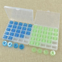 25pcs Plastic Clear Singer Bobbin Sewing Machine Bobbins Spool With Box