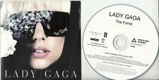 LADY GAGA The Fame 2008 UK 16-track promo CD w/ spot laminated card sleeve GAGA3