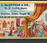 Boston McArthur Furniture Store 1880s Antique Bed Chamber Advertising Trade Card