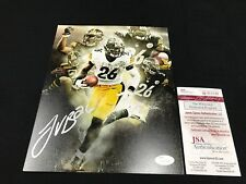 LE'VEON BELL PITTSBURGH STEELERS SIGNED 8X10 PHOTO JSA WITNESS WP953138 FREE S&H