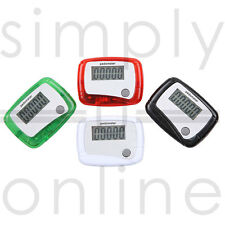 LCD PEDOMETER STEP COUNTER HIKING FITNESS WALKING JOGGING RUNNING