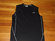 Under Armour Heatgear Black Loose Sleeveless Jersey Mens Large Excellent Cond.