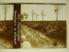 plaque photo guerre 14-18 montdidier somme infanterie en réserve poilus WWI