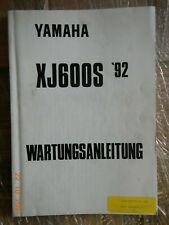 Wartungsanleitung Yamaha XJ600 S Div  Reparaturanleitung,Werkstatthandbuch 1992