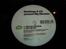 "BOABINGA & I D present BIG MONSTER - Rite of Passage - UK 2-track 12"" Single"