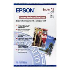 EPSON A3+ (SUPER A3) PREMIUM SEMI-GLOSS PHOTO PAPER 250GSM 20 SHEETS C13S041328