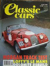 CLASSIC CARS JUNE 1991 MORGAN TEST JOWETT JAVELIN RILEY SPECIAL TRIUMPH DOLOMITE