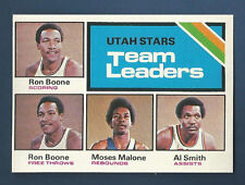 75/76 TOPPS UTAH STARS TEAM LEADERS  CARD #286