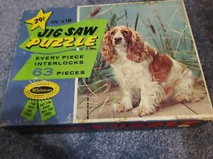 "Vtg 63 piece  Dog Puzzle by Whitman  11/1/2 "" X 15"""