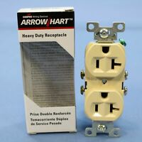 Eaton Electric Ivory COMMERCIAL Single Outlet Receptacle 5-20 125V 20A 1877V