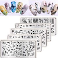 Harunouta Nail Art Stamping Plate Christmas Skull Stamp Image Stencils Template