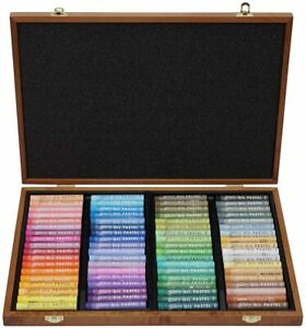Mungyo Gallery Artists' Soft Oil Pastel Set 72 Color Pastels Wood MOPV-72W