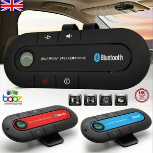 Wireless Bluetooth Speaker Hands-Free Car Kit Speakerphone Visor Clip Receiver