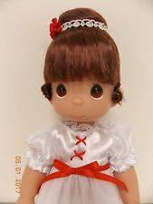 """Precious Moments Friends Ballet Hope 13"""" Vinyl Doll White Dress Red Shoes New"""