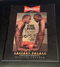 1988 Original Sugar Ray Leonard Thomas Hearns Dual Signed Boxing Program JSA COA