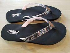 AIR BALANCE WOMEN'S AZTEC FLIP FLOP NEW SIZE 9 Black/Light Pink