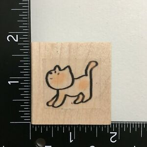 Cat Wood Mounted Rubber Stamp Animal