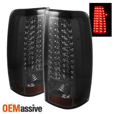 Fits Smoked 99-02 Chevy Silverado 99-03 GMC Sierra Pickup LED Tail Lights Lamps